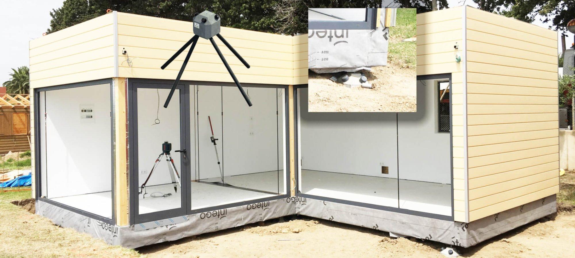 Casa modular con cimientos Piloedre