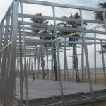 Piloedres en cimentación de la base náutica en Salou