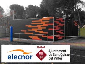 para cimentar los nuevos vestuarios en el campo municipal de Sant Quirze